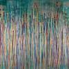 Drizzles Symphony 1 (2021) / Triptych 72x30 inches / Nestor Toro