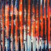 Orange Lights And Shadows (2021) / Detail / 16x20 inches by Nestor Toro