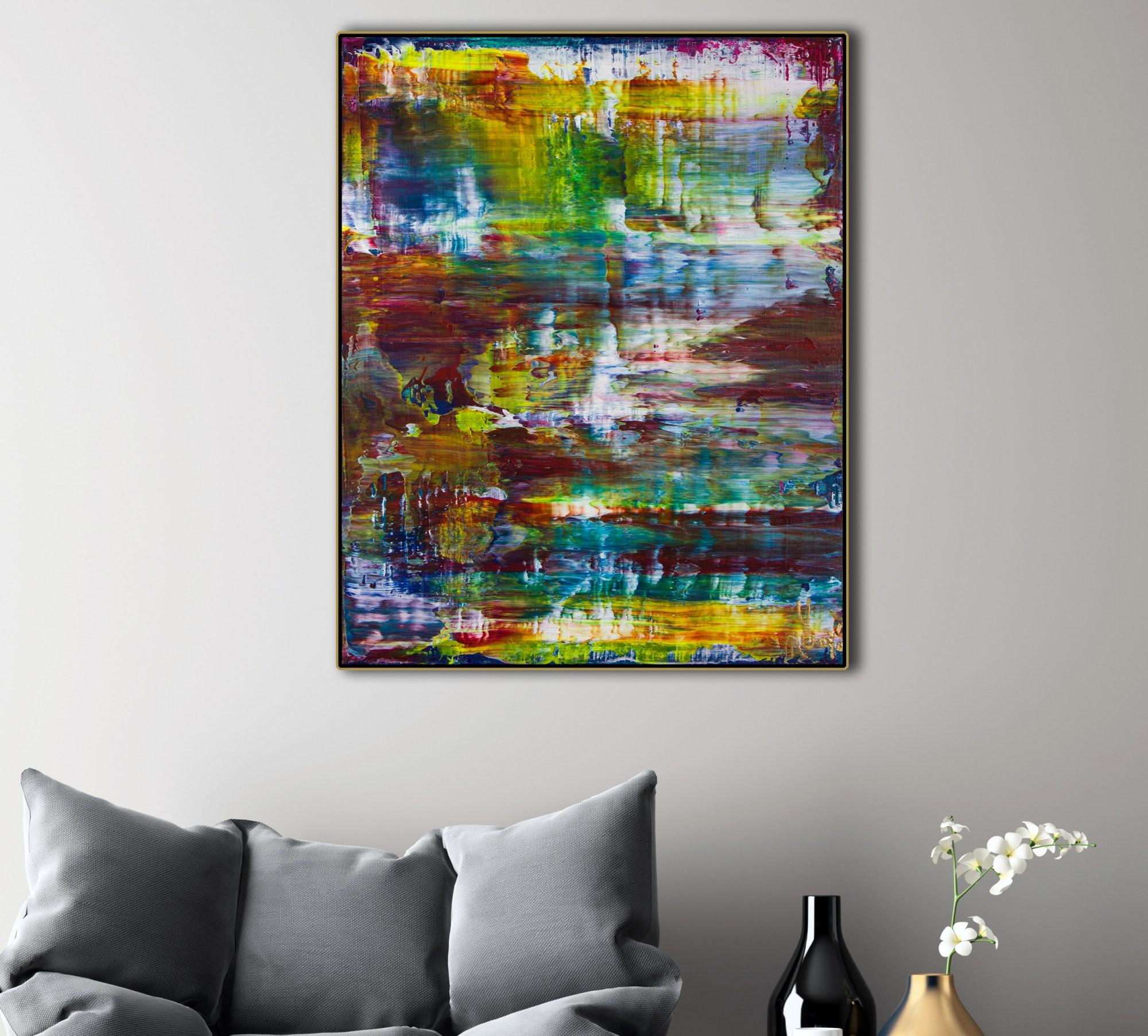 SOLD - Nocturn Panorama 6 (2021) / Room example / Artist: Nestor Toro