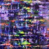 Blue Shade Panorama (Purple Radiance) (2021) / Full canvas / Artist: Nestor Toro