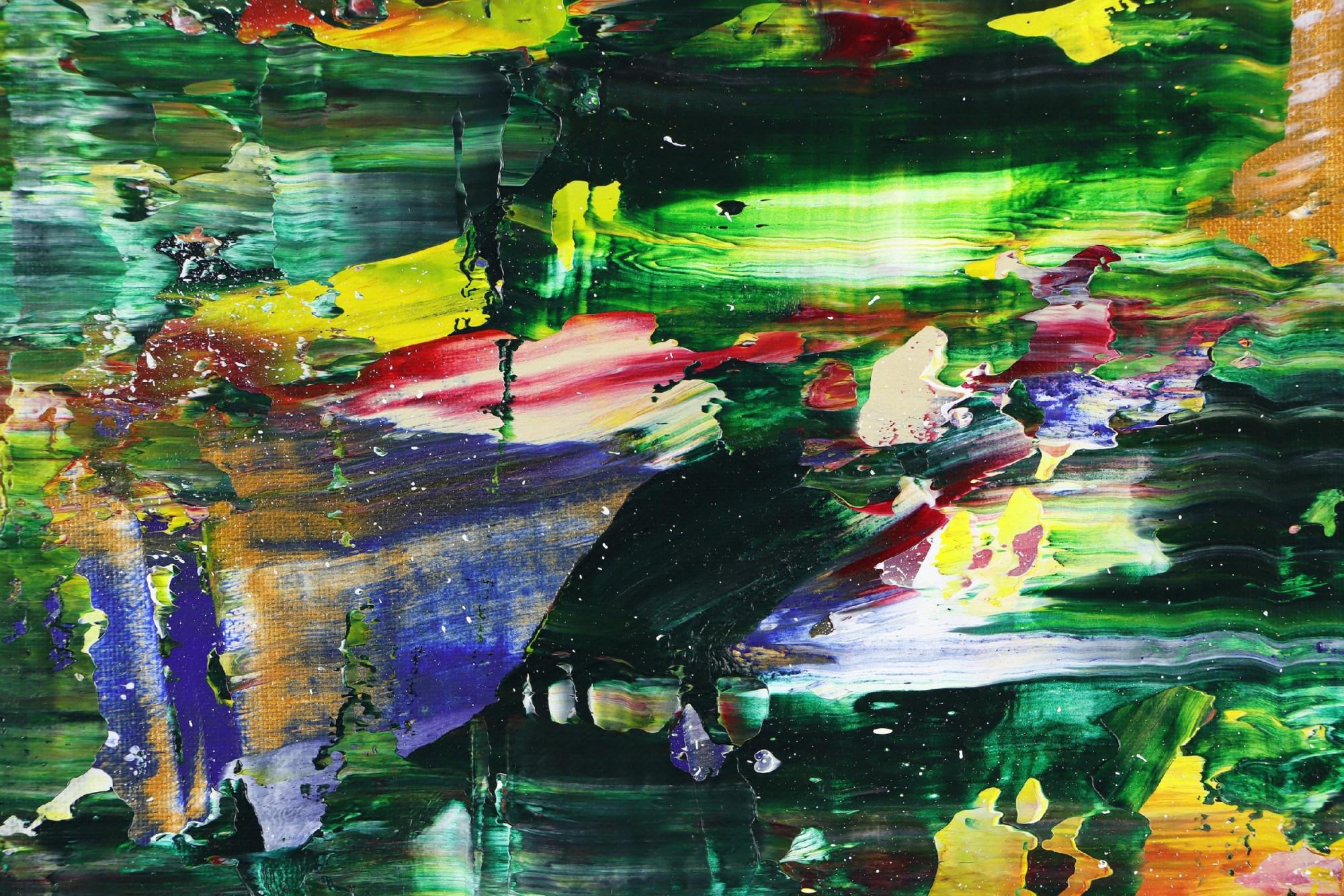 Detail / Moss and Rust 2 (2021) 20x24 in / Artist: Nestor Toro