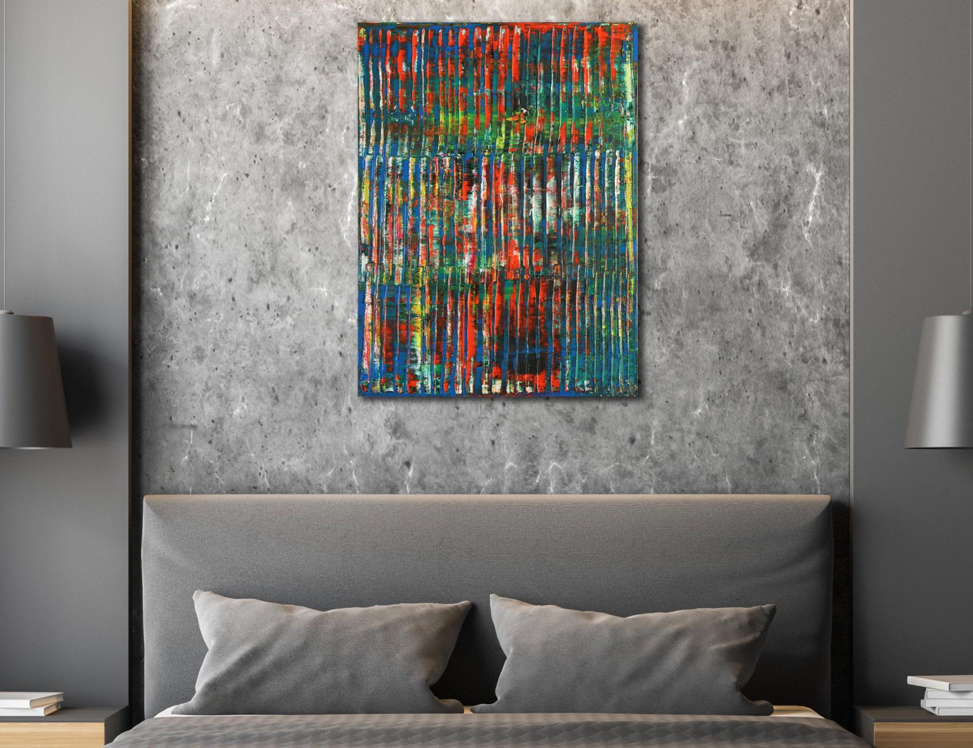 A Color Equation 2 (2021) / Room example / 18x24 / Artist: Nestor Toro