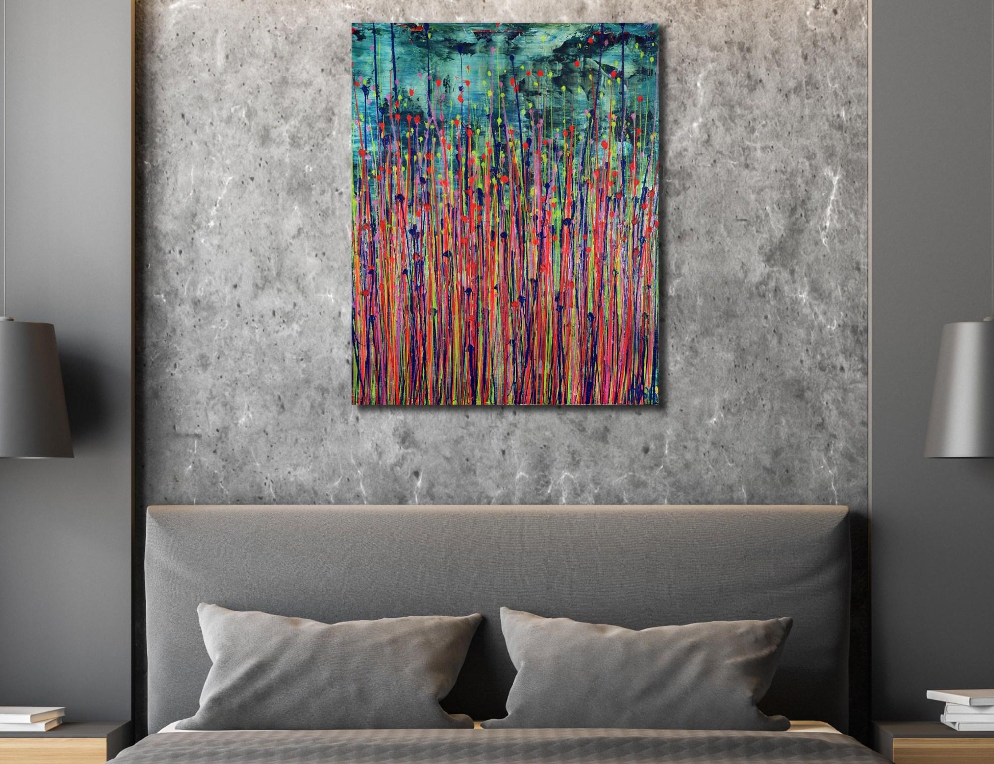 Room example / Daydream Panorama (Natures Imagery) 38 / 24x30 (2021) / Artist: Nestor Toro