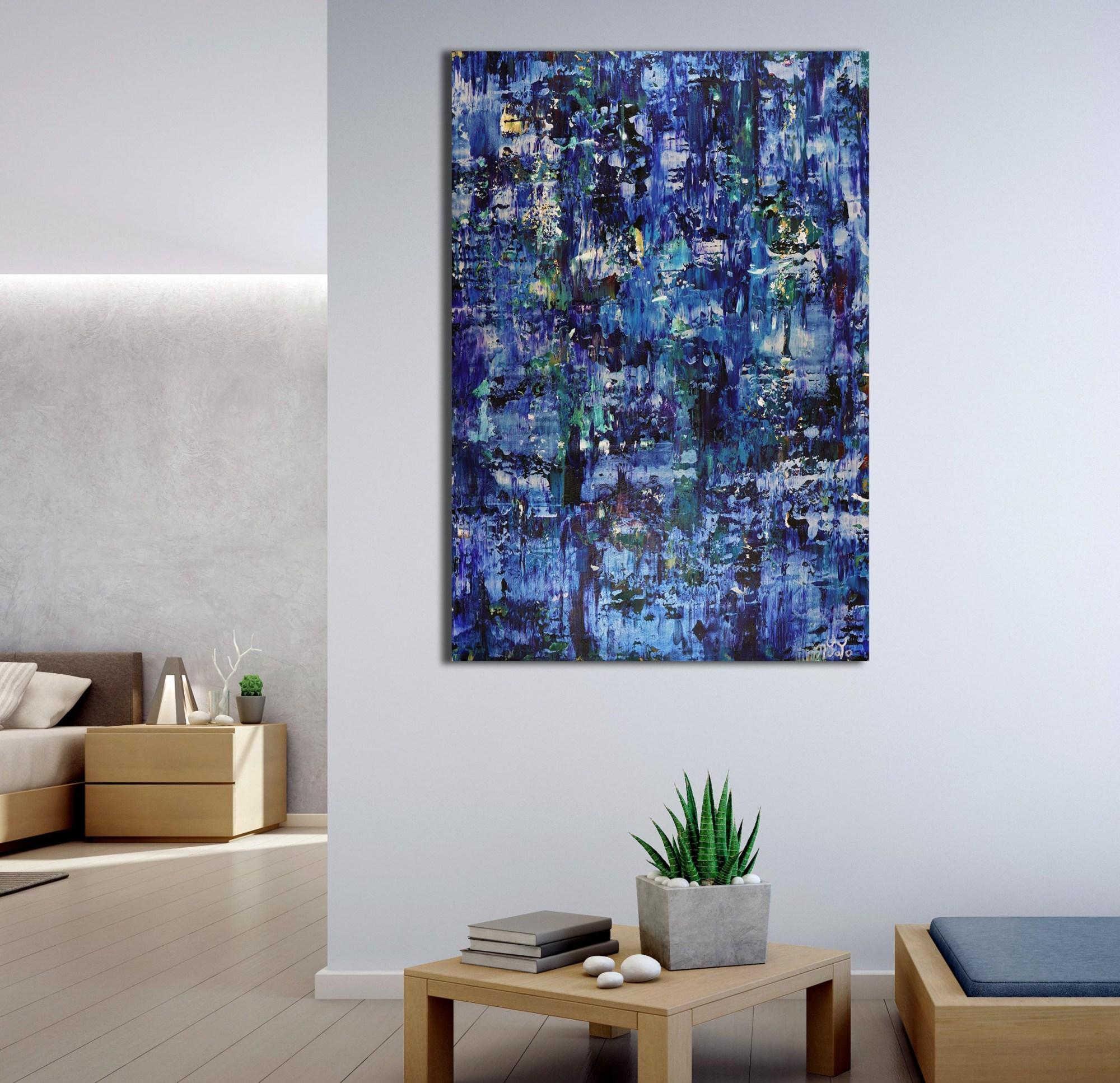 SOLD - Iridescent Midnight Blue (2021) by Nestor Toro