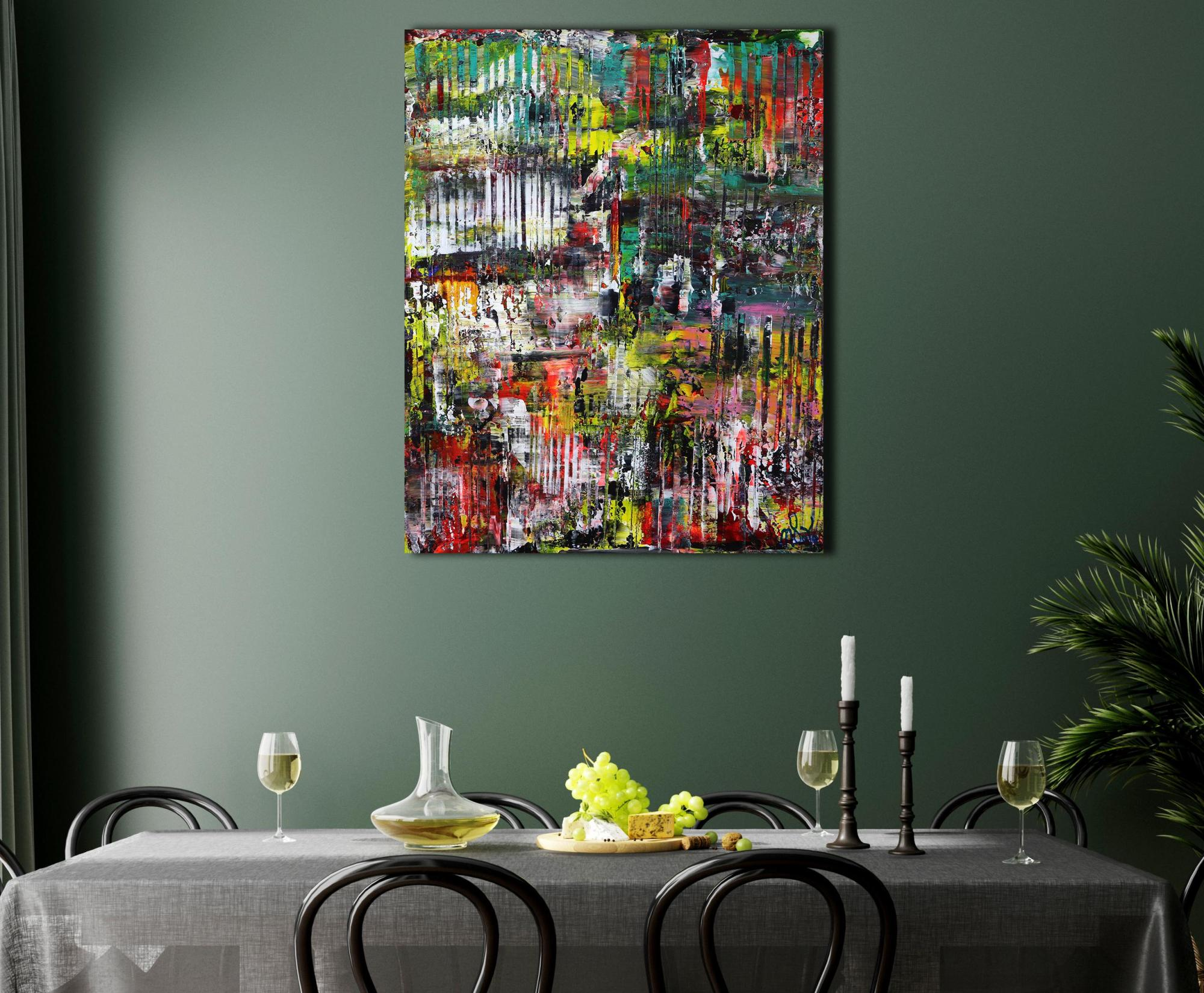 Room example - A Color Equation (2021) 24x30 in / Artist: Nestor Toro