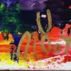 Blue Shade Panorama (Purple Radiance) (2021) / Signature / Artist: Nestor Toro