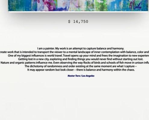 Nestor Toro's Artist Statement