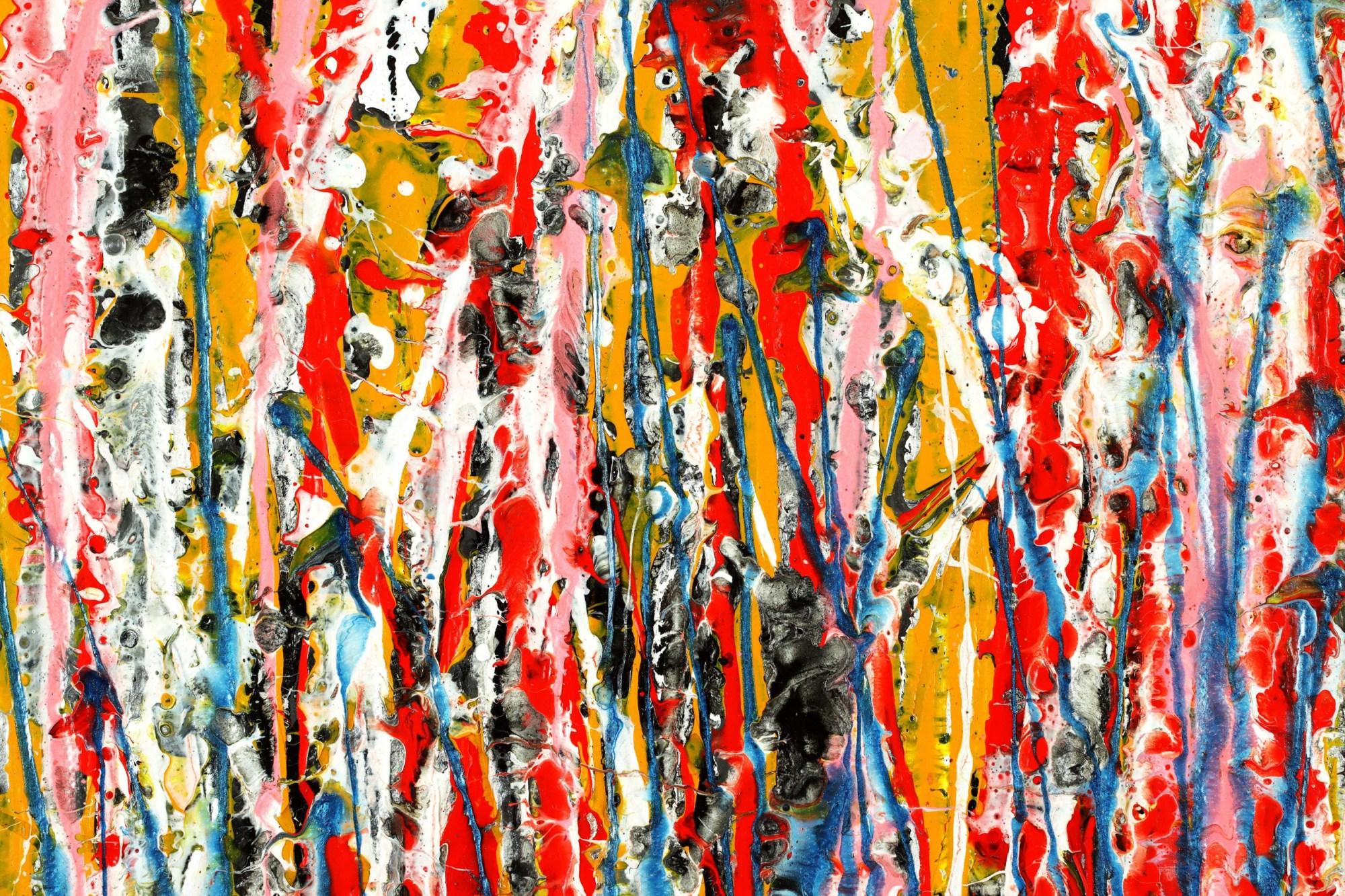 Dream Sequence 1 (2021) - DETAIL / Multi-canvas work by Nestor Toro