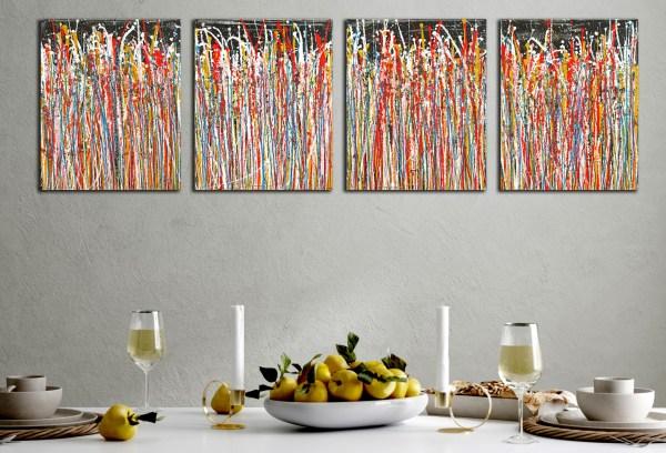 Dream Sequence 1 (2021) / Multi-canvas work by Nestor Toro
