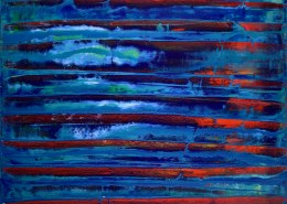 SOLD - Distant Red with Blue / Artist: Nestor Toro