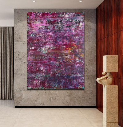 Purple Shade Panorama (Lavender Radiance) (2021) / 36 x 48 inches