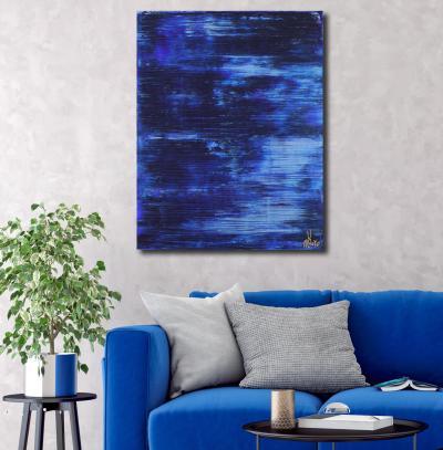 Iridescent Midnight Blue (Moon Reflections) (2021) / Artist: Nestor Toro