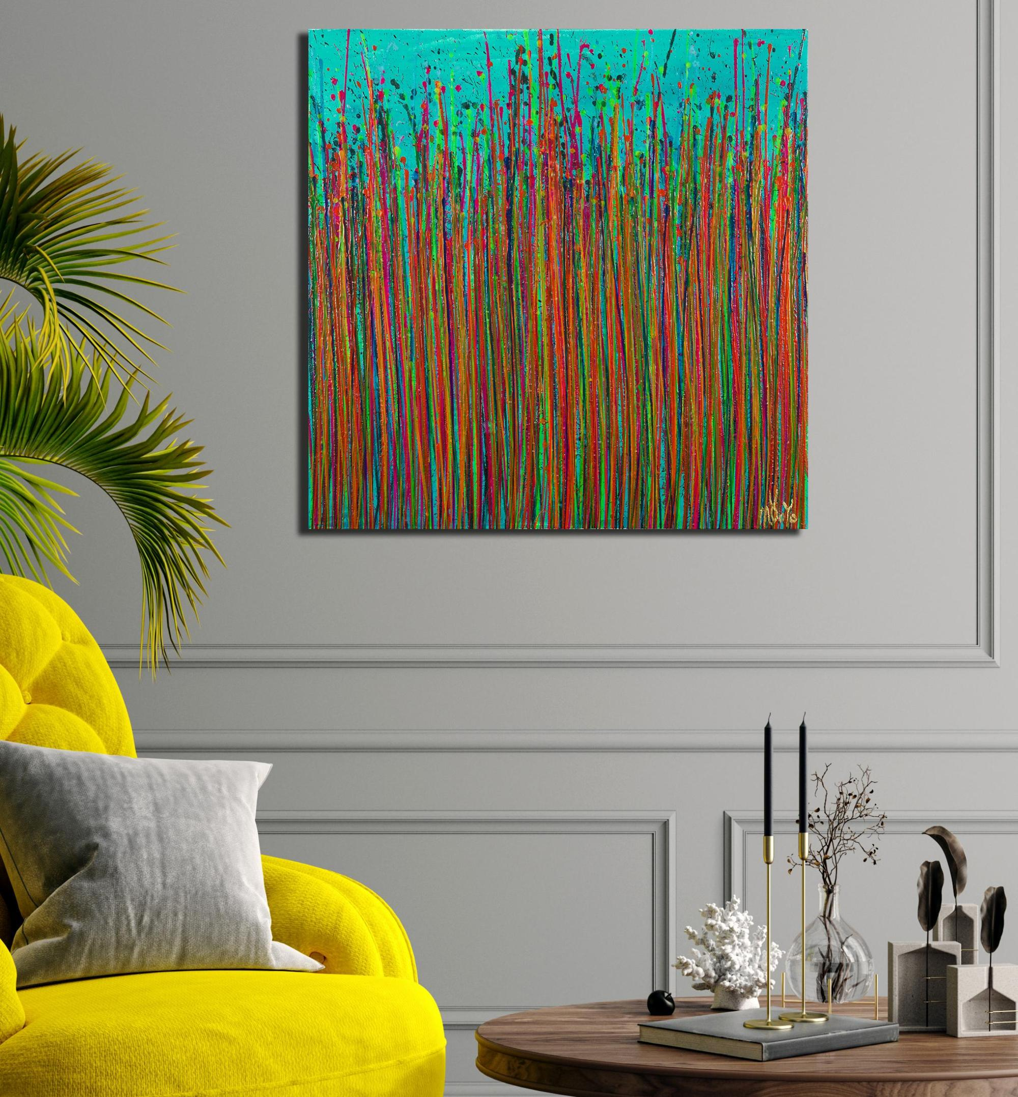 Room example / Caribbean Reflections 6 (2021) / Artist: Nestor Toro