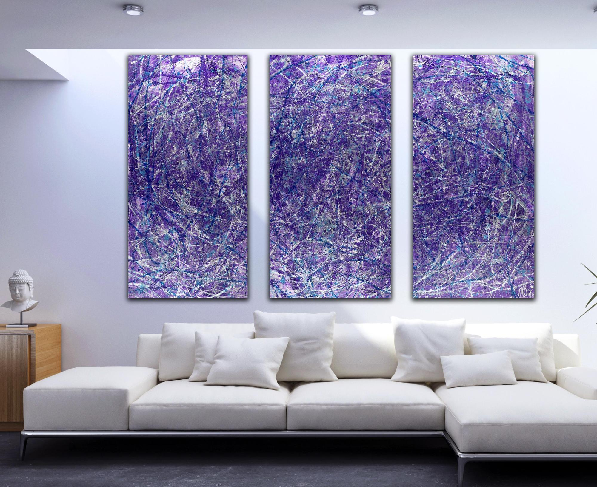 Purple Display of Affection (With Blue and Silver) 2 Painting