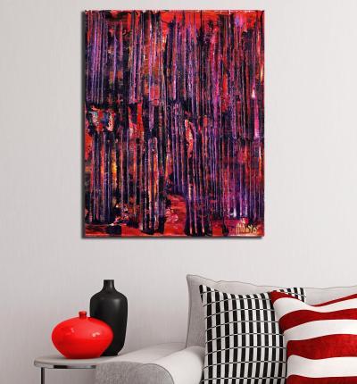 Iridescent Night (Purple Red) (2021)
