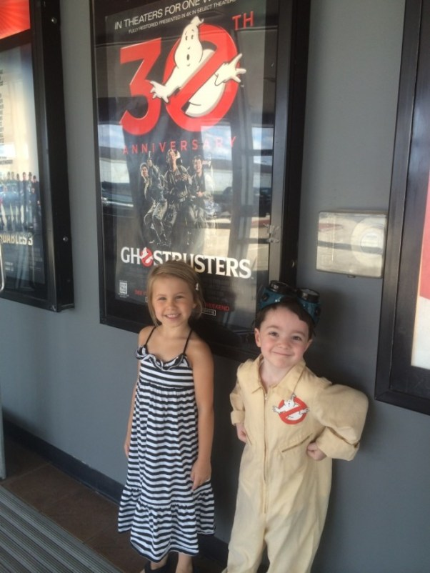 Ghostbusters birthday party - at the movies