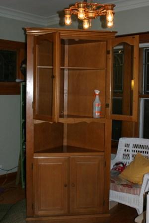 Fixer upper find: Vintage corner china cabinet