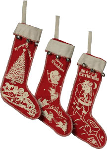 vintage-style stocking ornaments