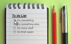 2012 to do list