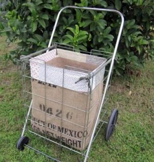 Making a flea market shopping cart liner