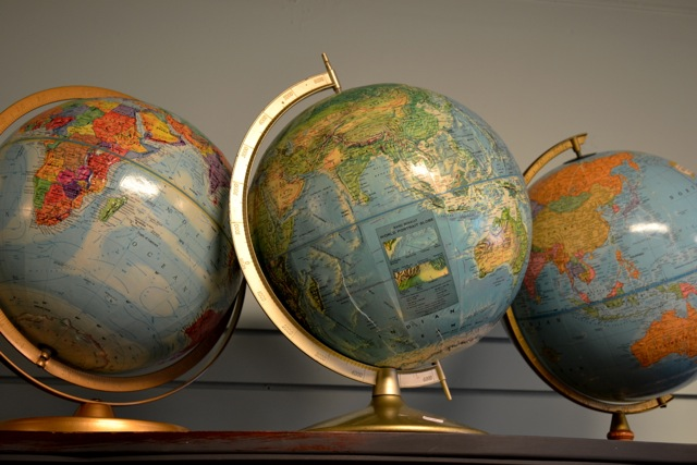 Vintage globe grouping