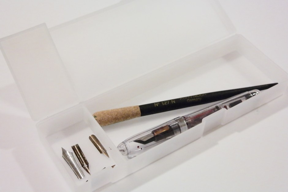 This pen case from Muji is perfect for holding nibs and pens.