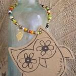 Owl beaded charm bracelet