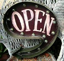 Vintage open marquee sign