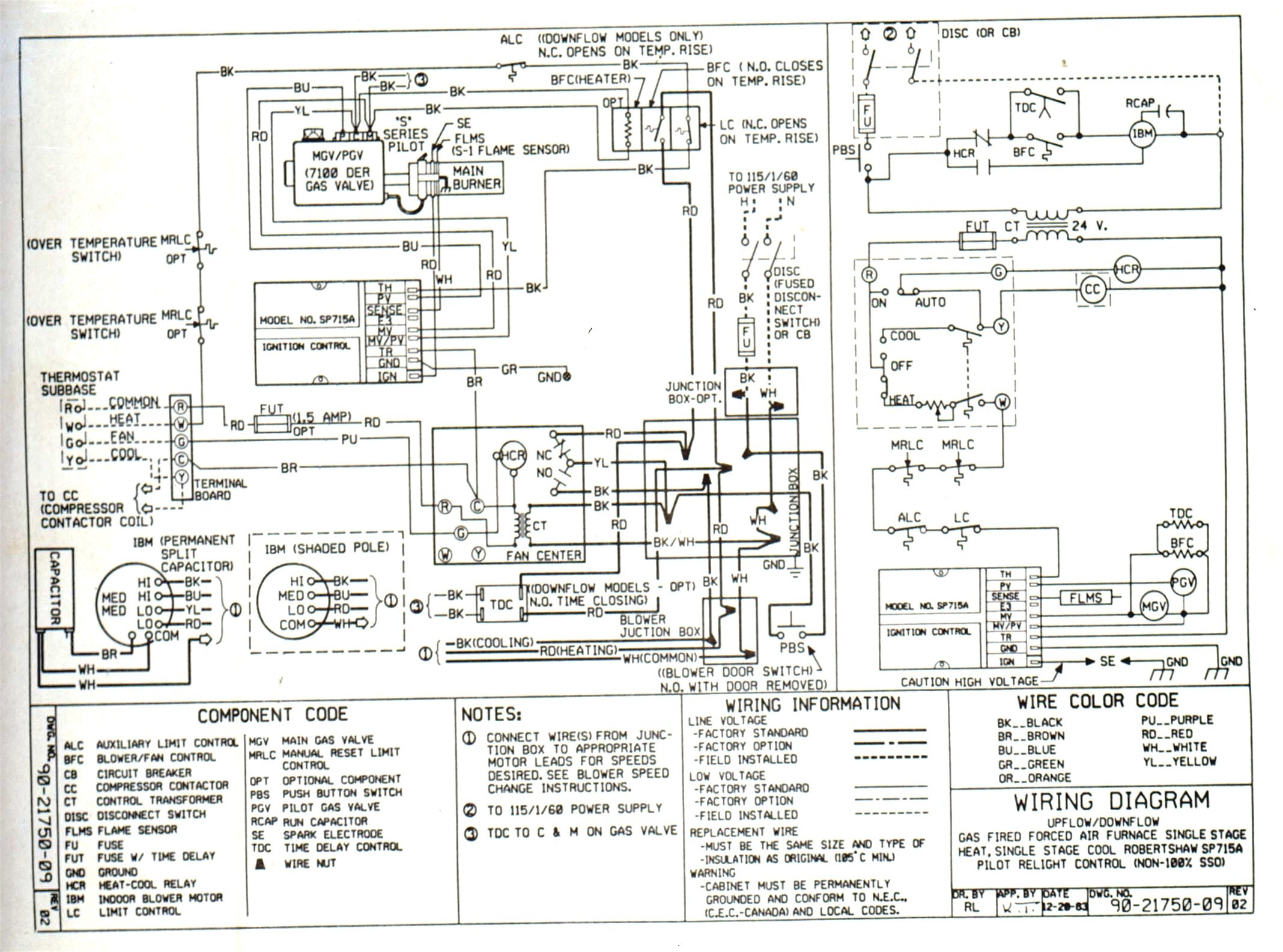 Gas Furnace Wiring Schematic