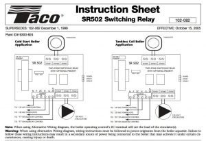 Taco Relay Wiring Thermostat Wi Fi | Wiring Diagram