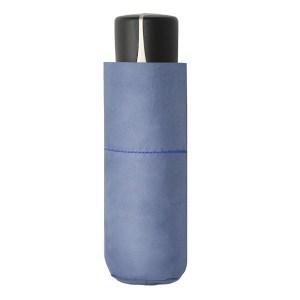 Moteriškas skėtis Doppler Fiber Mini Compact, šviesiai mėlyna, suskleistas