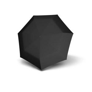 Unisex skėtis Doppler Fiber Mini Compact, juoda, išskleistas
