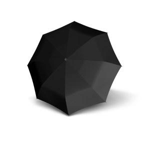 Vyriškas skėtis Doppler Fiber Automatic, juoda, išskleistas