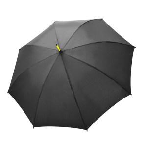 Unisex skėtis Doppler Fiber Party, su geltonais stipinais, išskleistas