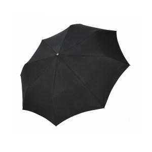 Vyriškas skėtis Doppler Fiber Magic Premium, juoda, išskleistas