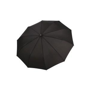 Vyriškas skėtis Doppler Fiber Magic Strong, juoda, išskleistas