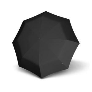 Unisex skėtis Knirps X1, juodas, mechaninis, su įdėklu, išskleistas