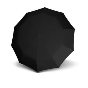 Unisex skėtis, Knirps S770 Long Automatic, juodas, išskleistas