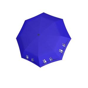 Moteriškas skėtis Doppler Fiber Cats Family, mėlyna, išskleistas