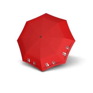 Moteriškas skėtis Doppler Fiber Cats Family, raudona, išskleistas