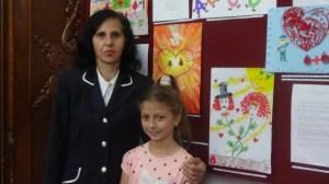 Tijana sa učiteljicom Danijelom Rašević