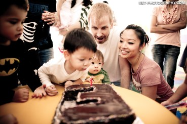 Esh's 1st Birthday Party at GM Height Apartment in Bangkok, Thailand.