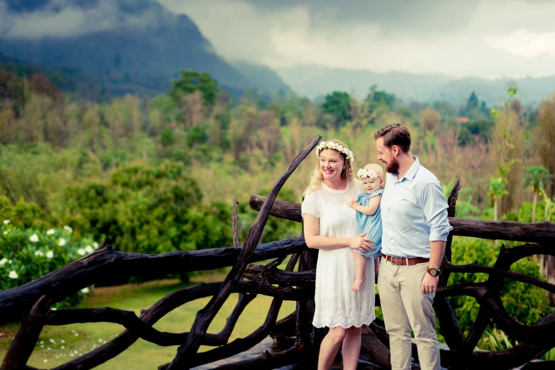 Family Photo Session at Villa Doi Luang Reserve | Chiang Dao Photographer