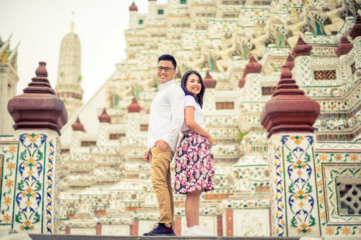Wat Arun Temple Bangkok Thailand Engaement Session