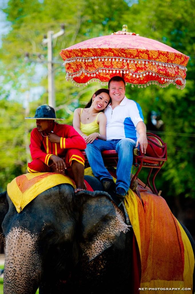 Thailand Ayutthaya Ayutthaya Elephant Palace Engagement Session