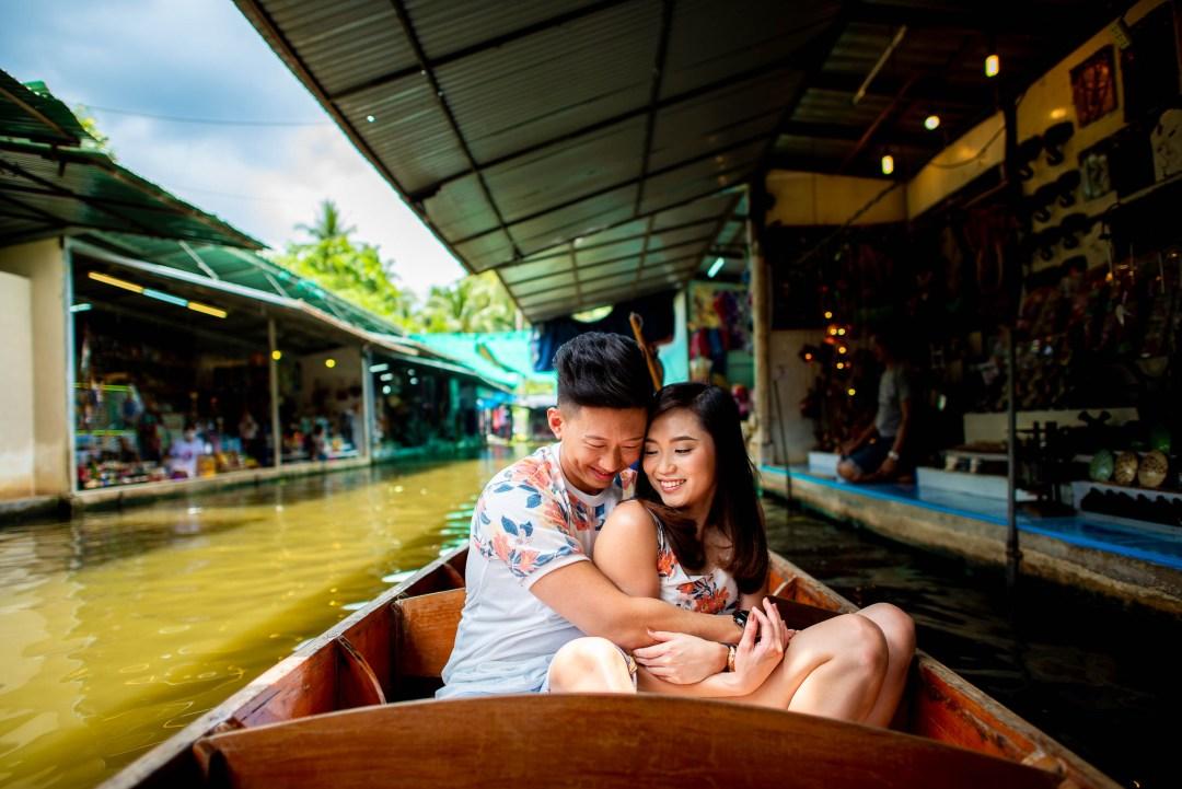 Damnoen Saduak Floating Market Ratchaburi Thailand Wedding Photography