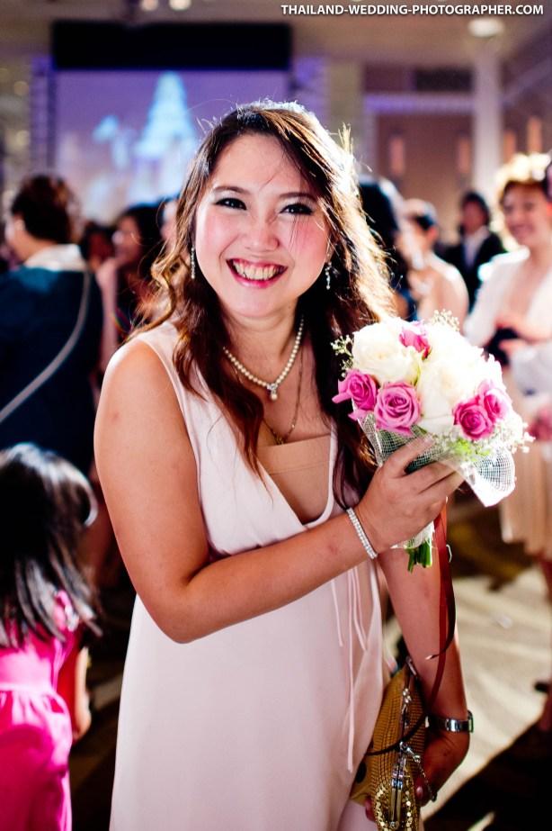 Bangkok, Thailand - Thai wedding photo taken at InterContinental Bangkok.