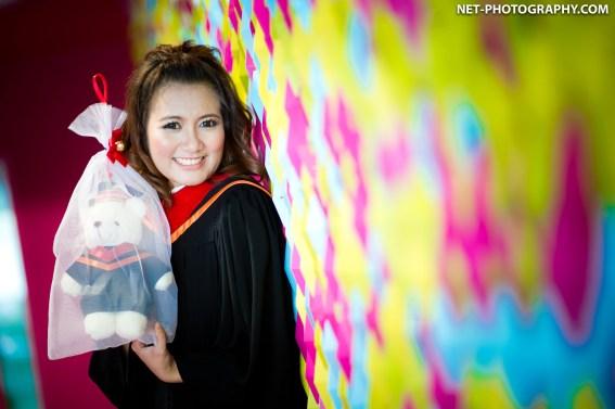 Graduation photo taken at Rangsit campus in Thailand.