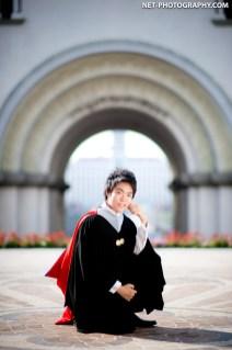 Graduation photo taken at Assumption University in Thailand.