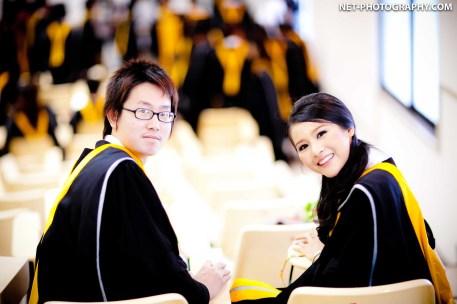 Graduation photo taken at Huachiew Chalermprakiet University in Thailand.
